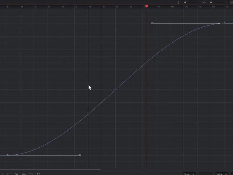 A Smooth or Bezier Spline inside the Fusion Spline Editor