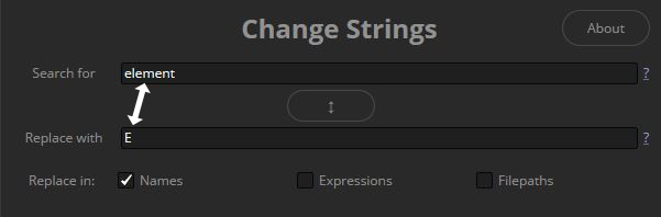Change strings search behavior