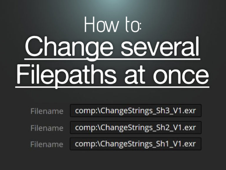 change several fileptahs at once