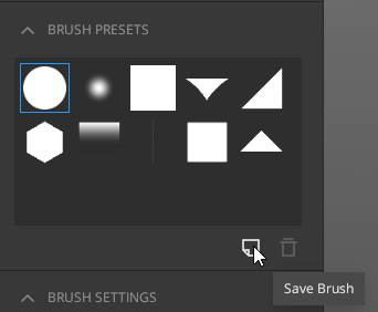 Save custom brushes in Quixel Mixer