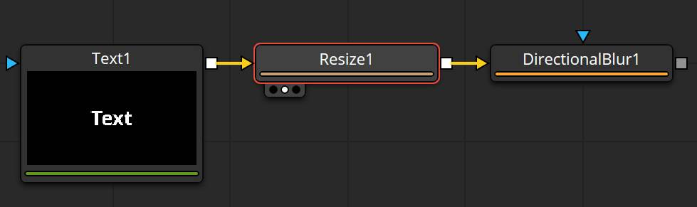 Text+, Resize and DirectionalBlur