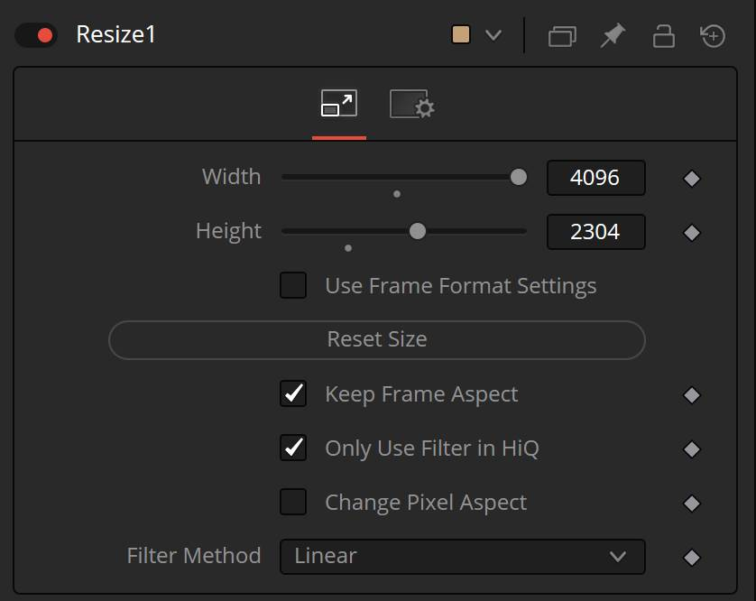 Fusions resize tool