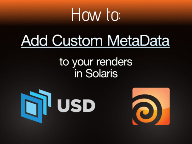 Custom Metadata in Houdini